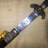 Dragon tiger sword,High carbon steel blade,Black wood,Alloy - Chinese sword shop