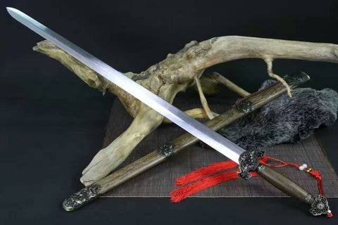 "Dragon Phoenix sword(Medium carbon steel,Rosewood,Alloy)Length 39"" - Chinese sword shop"