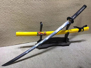 Tiger samurai swords,Medium carbon steel bade,Yellow scabbard,Alloy fitteds - Chinese sword shop