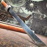 Dagger,short swords,High carbon steel blade,Redwood scabbard,Alloy fittings - Chinese sword shop