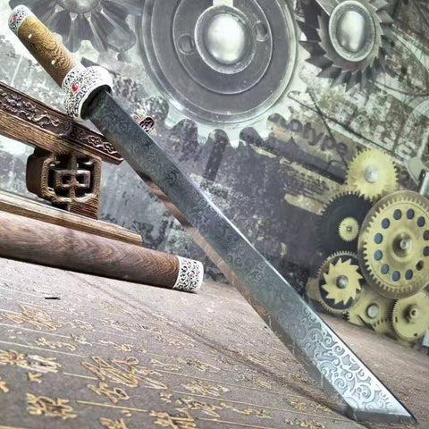 Dagger,short swords,High carbon steel blade,Rosewood scabbard