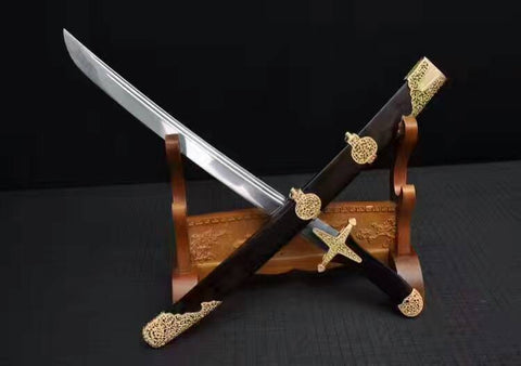 Sword,Asura scimitar(Folded steel,Ebony Scabbard,Brass fitting)Length 30""