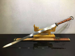 Han Dynasty sword(Damascus steel blade,Rosewood scabbard,Alloy) - Chinese sword shop