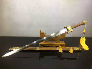 "Heavenly Sword(Damascus steel,Rosewood scabbard,Alloy)Length 43"" - Chinese sword shop"