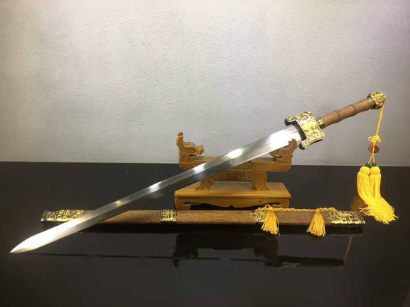 Heavenly Sword(Damascus steel,Rosewood scabbard,Alloy)Length 43