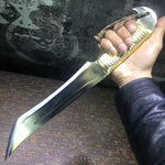 Small knife,Bowie,High speed steel,Leather scabbard,Length 15.7""