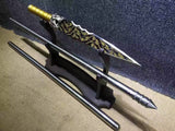 Dragon lance/Overlord Spear/High manganese steel Spearhead,Stainless steel rod,Length 78 inch - Chinese sword shop