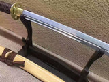 "Cut horse broadsword,Katana,High carbon steel,Wood scabbard,Length 45"" - Chinese sword shop"