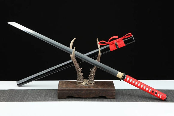 Samurai Ninja Sword Forged Damascus Steel Blade