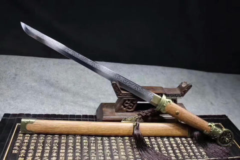 PeiDong jian(High carbon steel blade,Rosewood scabbard,Alloy fittings)Length33""