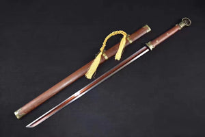 "Peidong sword,Folding steel,Rosewood scabbard,Full tang,Length 41"" - Chinese sword shop"