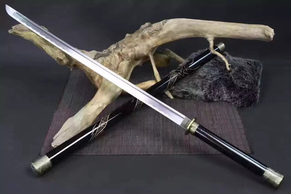 Stick knife sword,High carbon steel,Solid wood scabbard - Chinese sword shop