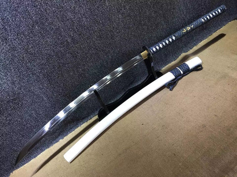 Cut horse broadsword,Samurai sword,High manganese steel,White scabbard - Chinese sword shop