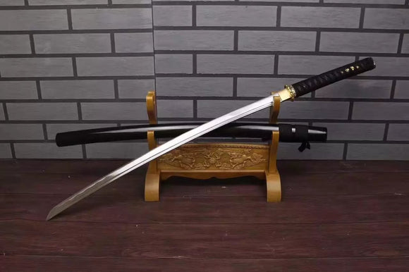 Katana,Nihontou,Medium carbon steel,Wood scabbard,Alloy fitting,Full tang - Chinese sword shop