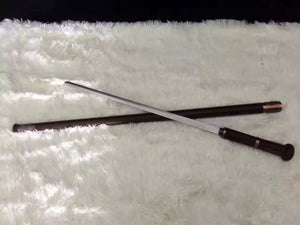 Walking stick sword,Medium carbon steel,Rosewoodscabbard,Alloy fitting,Full tang,Length 35 inch - Chinese sword shop