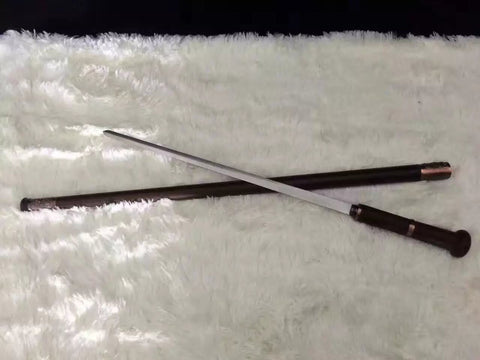 Walking stick sword,Medium carbon steel,Rosewoodscabbard,Alloy fitting,Full tang,Length 35 inch