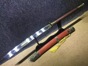 China chop sabers,High carbon steel,Alloy fitted,Redwood scabbard - Chinese sword shop