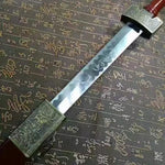 Chinese sword,Medium carbon steel,Paint scabbard,Length 29 inch