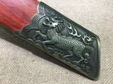 China chop sabers,T10 high carbon steel,Alloy fitted,Redwood scabbard