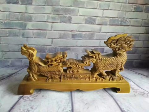 Chinese sword Wooden shelf Table Stand Kylin shape Swords,Sword Table Display Holder solid wood - Chinese sword shop
