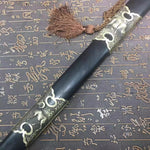 Chinese traditional sword,Damascus steel blue blade,Ebony,Copper - Chinese sword shop