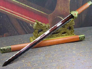 Jinlan sword,Folded steel red blade,Redwood scabbard,Alloy fitting,Length 31 inch - Chinese sword shop