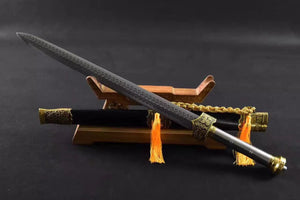 Yue wang sword,High manganese steel blade,Black wood scabbard,Alloy fitting,Length 33 inch - Chinese sword shop