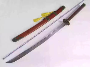 "Dragon Dao,Sword,Damascus steel blade,Redwood,Alloy,Length 46"" - Chinese sword shop"