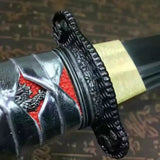 "Katana,High carbon steel coated blade,Wood scabbard,Full tang,Length 36"" - Chinese sword shop"