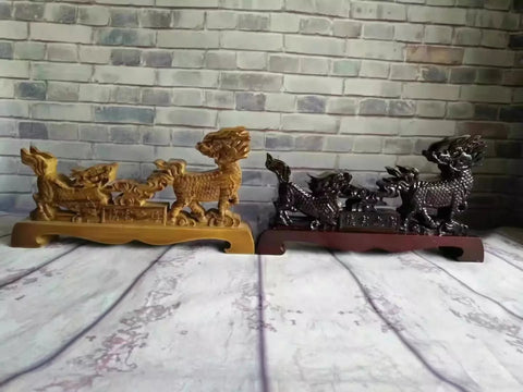 Chinese sword Wooden shelf Table Stand Kylin shape Swords,Sword Table Display Holder solid wood