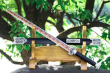 Qin sword,High manganese steel red blade,Black wood scabbard,Silver alloy fitting - Chinese sword shop