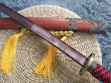 Broadsword,Handmade Damascus steel blade,Redwood,Alloy - Chinese sword shop
