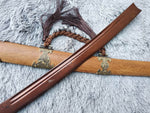 Broadsword,Damascus steel red blade,Rosewood,Alloy - Chinese sword shop