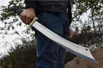 Red Army dao,High carbon steel blade,Bamboo scabbard