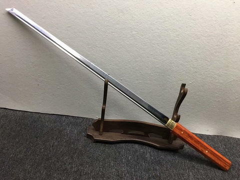 Katana,High carbon steel burn blade,Redwood,Full tang - Chinese sword shop