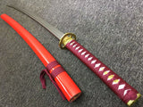Samurai katana,kendo,Medium carbon steel blade,Red scabbard,Alloy