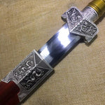 Tsing Lung sword,High carbon steel blade,Redwood scabbard,Alloy