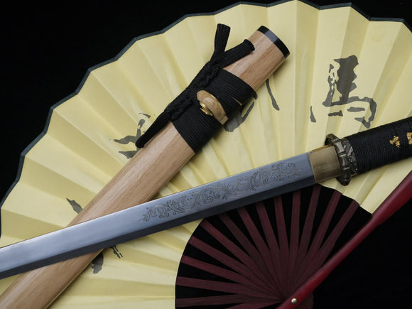 Katana,Ninja Sword,High manganese steel,Hardwood scabbard,Alloy fitting - Chinese sword shop