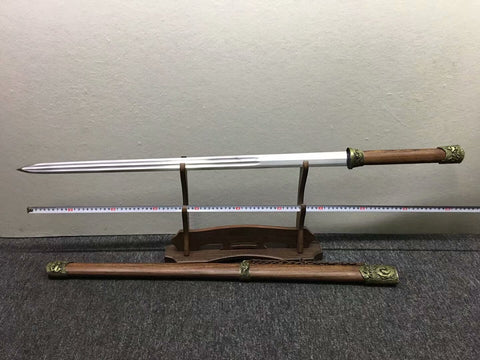 Longquan sword,High carbon steel etch blade,Rosewood,Alloy fittings