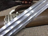 "Yuewang sword(Folded steel blade,Rosewood scabbard,Alloy fitted)Length 32"" - Chinese sword shop"