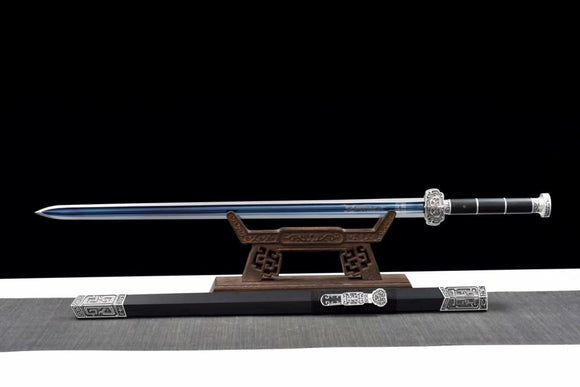 Ruyi jian,High carbon blue blade,Alloy fittings,Sword