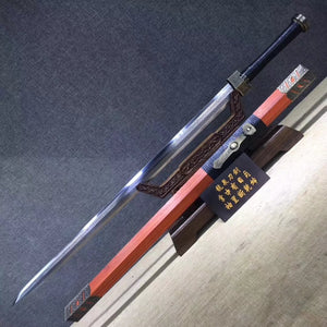 Ruyi sword,High manganese steel etch blade,Redwood scabbard,Alloy fitting - Chinese sword shop