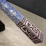 Ruyi jian sword,Damascus steel blade,Brass scabbard fittings