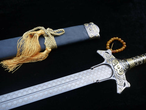 Cosplay sword,Yuanhong jian,High carbon steel blade,Alloy fittings&Handmade art - Chinese sword shop