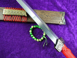 Han jian/Damascus steel handmade blade,Rosewood/Red handle