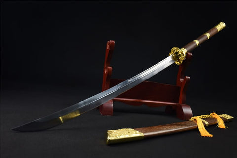 Golden Dragon Saber(High carbon steel blade,Rosewood)Full tang - Chinese sword shop