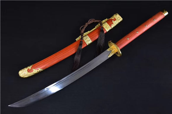 Broadsword(High carbon steel blade,Redwood scabbard)Full tang&Handmade art - Chinese sword shop