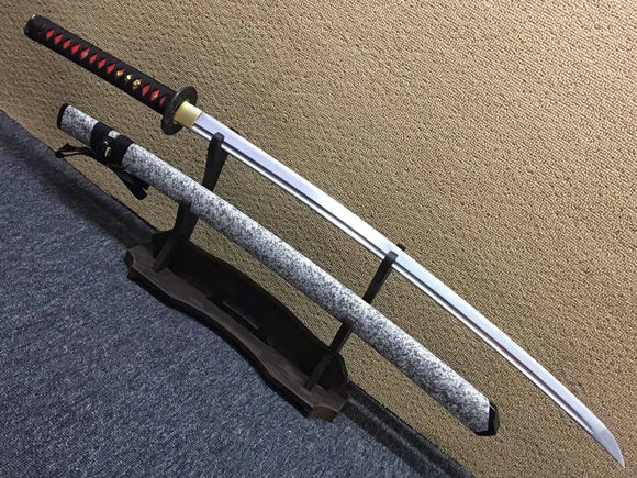 Peony katana,Medium carbon steel bade,Paint scabbard,Alloy fittings - Chinese sword shop