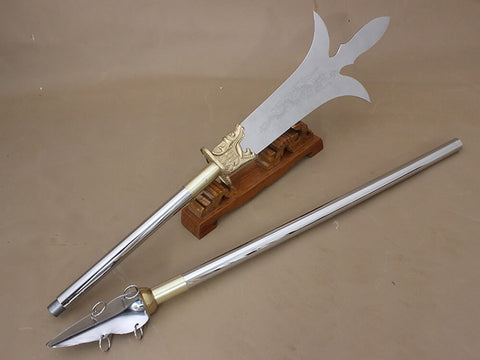 Trident,spear,Stainless steel spearhead and rod - Chinese sword shop