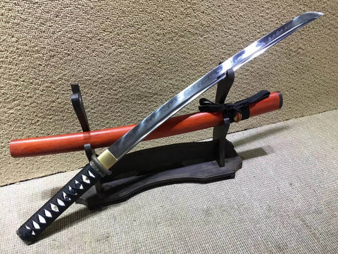 "Katana,High carbon steel burn blade,Redwood scabbard,Full tang,Length 28"" - Chinese sword shop"